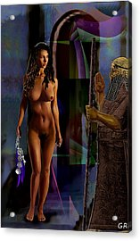 Female Nude Digital Fine Art Jean Inanna 7th Gate Acrylic Print