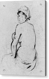 Female Nude Seen From Behind Acrylic Print by Berthe Morisot