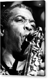Femi Kuti Live In Concert 2 Acrylic Print by Jennifer Rondinelli Reilly - Fine Art Photography