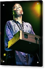 Femi Kuti Live In Concert Acrylic Print by Jennifer Rondinelli Reilly - Fine Art Photography
