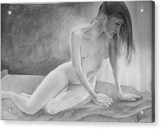 Feminine V Acrylic Print by Suvam Majumder