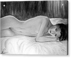 Feminine Vi Acrylic Print by Suvam Majumder