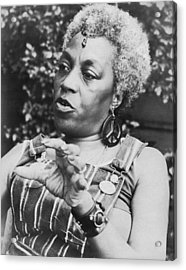Feminist Florynce Kennedy Acrylic Print by Underwood Archives