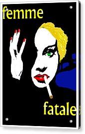 Femme Fatale Acrylic Print