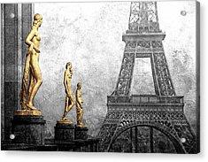 Femmes Parisiennes Acrylic Print by Joachim G Pinkawa
