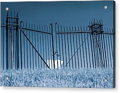 Fence And Cloud Acrylic Print