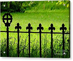 Fence And Cross Acrylic Print