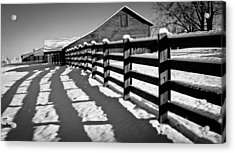 Fence And It's Shadow Acrylic Print