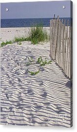 Acrylic Print featuring the photograph Fence And Shadow by Jeanne Forsythe