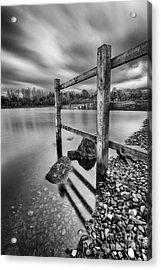 Fence In The Loch  Acrylic Print by John Farnan
