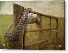 Fence Post Acrylic Print by Kathy Jennings