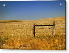 Fence Post Near Choteau Montana Acrylic Print by Rich Franco