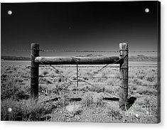 Fence Posts Acrylic Print by Rick Rhay