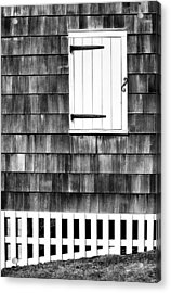 Fence Shutter And Weathered Wall Acrylic Print
