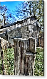 Fenced In Acrylic Print by Branden Simons
