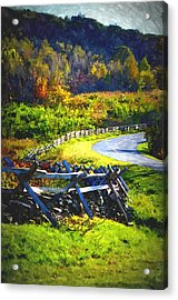 Acrylic Print featuring the photograph Fenced In by Cathy Shiflett