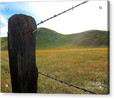 Fencepost On The 58 Acrylic Print