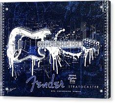 Fender Blueprint Washout Acrylic Print