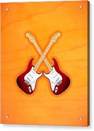 Fender Stratocaster American Standart Red   Acrylic Print by Doron Mafdoos
