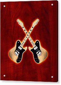 Fender Telecaster Custom Acrylic Print by Doron Mafdoos