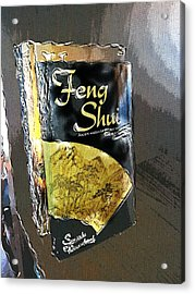 Acrylic Print featuring the painting Feng Shui Abstract - Small by Nik Helbig
