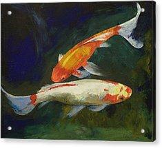 Feng Shui Koi Fish Acrylic Print