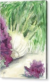 Fennel And Friend Acrylic Print by Maria Hunt