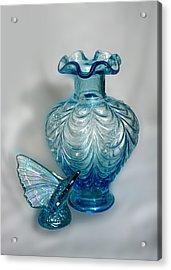 Fenton Blue Acrylic Print by Linda Phelps