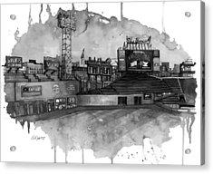 Fenway Bw Acrylic Print