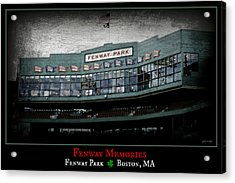 Fenway Memories - Clover Edition Acrylic Print by Stephen Stookey