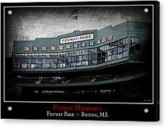Fenway Memories - Poster 1 Acrylic Print by Stephen Stookey