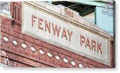 Fenway Park 1912 Acrylic Print by Susan Candelario