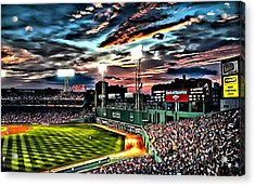 Fenway Park At Sunset Acrylic Print