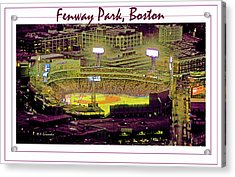 Fenway Park Boston Massachusetts Digital Art Acrylic Print by A Gurmankin