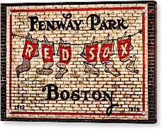 Fenway Park Boston Redsox Sign Acrylic Print by Bill Cannon
