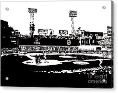 Fenway Park Drawing Acrylic Print by Rob Monte