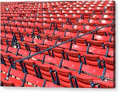 Fenway Park Grandstand Seats I Acrylic Print by Clarence Holmes