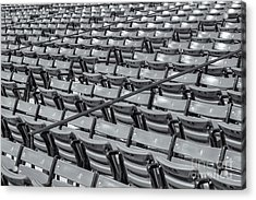 Fenway Park Grandstand Seats II Acrylic Print by Clarence Holmes