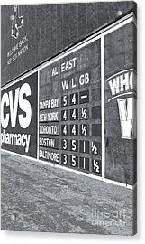 Fenway Park Green Monster Scoreboard II Acrylic Print
