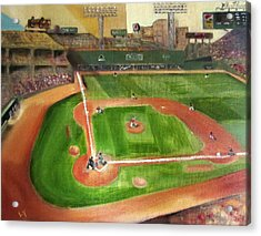 Fenway Park Acrylic Print by Lindsay Frost