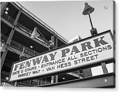 Fenway Park Sign Acrylic Print by John McGraw
