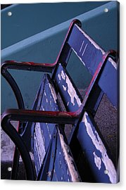 Fenway Park Third Base Seat Acrylic Print by Brian Hoover