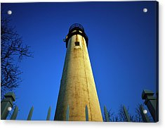 Acrylic Print featuring the photograph Fenwick Island Lightouse And Blue Sky by Bill Swartwout