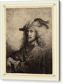 Ferdinand Bol Dutch, 1616-1680, Portrait Of An Officer Acrylic Print