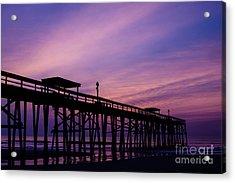 Fernandina Fishing Pier At Sunrise Acrylic Print by Dawna  Moore Photography