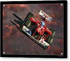 Fernando Alonso Ferrari Acrylic Print