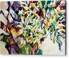 Acrylic Print featuring the painting Ferns And Bismark Lines  by Roger Parent