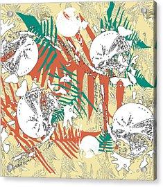 Acrylic Print featuring the digital art Ferns by Jocelyn Friis