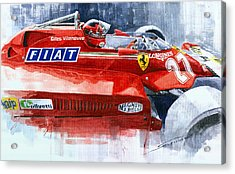 Ferrari 126c Silverstone 1981 British Gp Gilles Villeneuve Acrylic Print