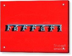 Ferrari 208 Logo Acrylic Print by George Atsametakis